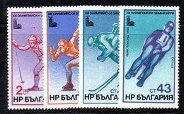 479 490 - BULGARIA 1979 , Serie 2500/2503  ***  MNH  Lake Placid - Bulgaria