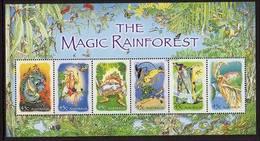 2002 - Australian THE MAGIC RAINFOREST Minisheet Minature Sheet Stamps MNH - Blocks & Sheetlets