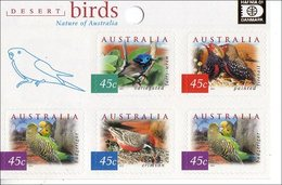 2001 - Australian Desert BIRDS Minisheet MNH Overprint HAFNIA - Blocks & Sheetlets