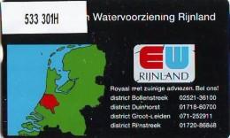 Telefoonkaart  LANDIS&GYR NEDERLAND * RCZ.533   301H  *  Energie- En Watervoorziening Rijnland  * TK * ONGEBRUIKT *  - Privé