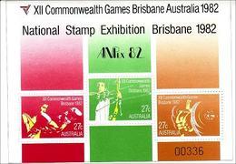 1982 - Australian COMMONWEALTH GAMES Minisheet MNH Overprint ANPEX - Blocks & Sheetlets