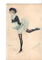 """Illustrateur  A.  PENOT.  Sports D'hiver De La Parisienne.  Série N°7. -  31.  """"une élégante"""". - Illustrators & Photographers"""