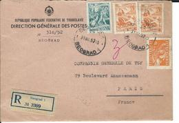 Lettre Se Yougoslavie Pour La FRANCE Le 31/7/52 - 1945-1992 République Fédérative Populaire De Yougoslavie