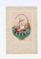 Image Pieuse Ancienne Avec Un Bâteau. Canivet.  (109) - Images Religieuses