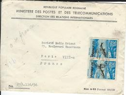 Lettre De ROUMANIE Pour La FRANCE Le 31/5/56 - Briefe U. Dokumente