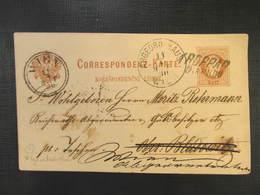 GANZSACHE Troppau - Bludowitz-  Wien Abgeord. Haus 1880 Irrläufer Korrespondenzkarte  /// D*32166 - 1850-1918 Imperium
