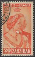 Zanzibar SG333 1949 Royal Silver Wedding 20c Good/fine Used [37/30884/2D] - Zanzibar (...-1963)
