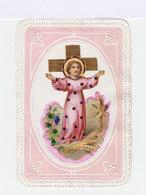 Image Pieuse Ancienne De L'enfant Jésus. Réhaussée De Dorures . Relief Sur Le Pourtour. (112) - Images Religieuses