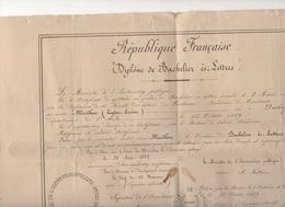 0206025 Diplome De Bachelier Academie De Toulouse 1889 MAILHAC Eugène Lucien Né à Durban (quelques Trous ) - Diplômes & Bulletins Scolaires