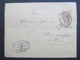 GANZSACHE Tetschen - Schmiedefeld 1897 Zeitungsstreifband  /// D*32170 - 1850-1918 Imperium