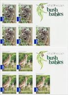 2009 - Australian BUSH BABIES (2) Self Adhesive Sheetlet Stamps MNH - Blocks & Sheetlets