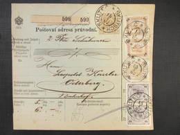 GANZSACHE Skutec Skutsch - Oderberg 1902 Paketschein Postbegleitadresse /// D*32171 - 1850-1918 Imperium