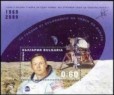 40 Years Of Walking A Man On The Moon - Bulgaria / Bulgarie 2009 - Block MNH** - Space