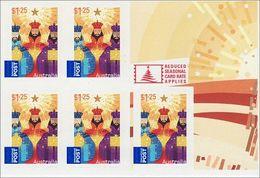2009 - Australian CHRISTMAS XMAS 5*$1.25 Self Adhesive Sheetlet Stamps MNH - Blocks & Sheetlets