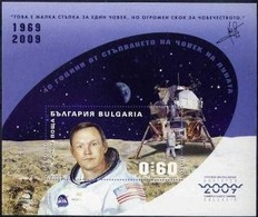 40 Years Of Walking A Man On The Moon - Bulgaria / Bulgarie 2009 - Block Imperforate MNH**(edition  6900 Pcs) MNH** - Space