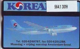 Telefoonkaart  LANDIS&GYR NEDERLAND * RCZ.564.1  301H  * Korean Air * AIRPLANE * TK * ONGEBRUIKT * MINT - Vliegtuigen