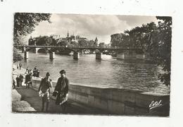 Cp , 75 , PARIS , Vue Sur La Passerelle Des ARTS Et La CITE , écrite , Ed. De Luxe Estel - Francia