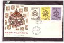 TEM6961     -    VATICANO  15.6.1963       /    FDC     SEDE VACANTE - FDC