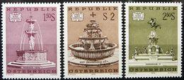 Austria 1972 Austrian Treasures Art Architecture Places Tourism Fountains Sculpture Monuments Stamps MNH SG#1632-1634 - Monuments