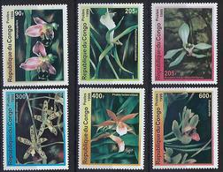 """Congo YT ??? Non Référencé MI 1663 à 1668 """" Orchidées """" 1999 Neuf** - Congo - Brazzaville"""