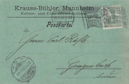 Allemagne Omec Drapeau Mannheim Sur Carte 1903 - Deutschland