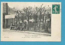 CPA Hôtel-Restaurant Thommen Quai De Marne CHELLES 77 - Chelles