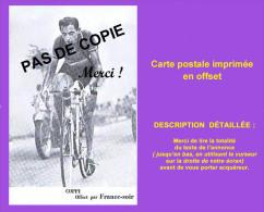 CYCLISME : Carte Postale COPPI . Offert Par France-Soir. Voir 2 Photos Et Description Bien Détaillée. Aucun Défaut. - Ciclismo