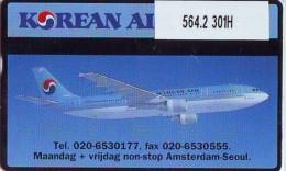 Telefoonkaart  LANDIS&GYR NEDERLAND * RCZ.564.2  301H  *Korean Air Cargo * AIRPLANE * TK * ONGEBRUIKT * MINT - Vliegtuigen