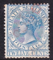 Malaysia-Straits Settlements SG 15 1867 Queen Victoria 12c Blue, Used - Straits Settlements