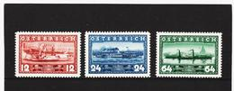 AUA1221 ÖSTERREICH 1937 Michl 639/41 ** Postfrisch SIEHE ABBILDUNG - 1918-1945 1. Republik