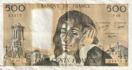 500 Francs Pascal Date 2 1 1969B  TB - 1962-1997 ''Francs''
