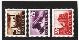 AUA1222 ÖSTERREICH 1937 Michl 646/48 ** Postfrisch SIEHE ABBILDUNG - Ungebraucht