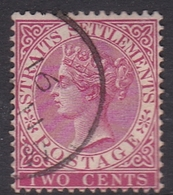 Malaysia-Straits Settlements SG 63 1883 Queen Victoria 2c Rose, Used - Straits Settlements