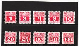 PeltAUA1224 ÖSTERREICH 1908 Michl 34/44 PORTO ** Postfrisch Mi 41 Gestempelt - Postage Due