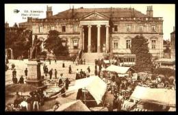LIMOGES - 221 : Place D' Aisne, Le Tribunal - (Beau Plan Animé Avec Marché En Plein Air) - Limoges
