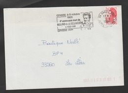 Flamme Dpt 06 : GRASSE (SCOTEM N°  9467 Du 01/08/1988 => 08/10/1988) : Bellavo De La Bellavdière 1532 - 1588 - Marcofilia (sobres)