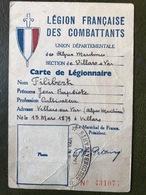 LEGION FRANCAISE DES COMBATTANTS 1942 Villars Sur Var - Historical Documents