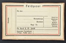 ETIQUETTE FELDPOST ENVOI DE COLIS Franchise Militaire - Marcophilie (Lettres)