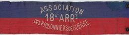 BRASSARD 300*75 Mm ASSOCIATION PRISONNIERS DE GUERRE 75018 - Blazoenen (textiel)