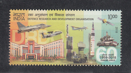 INDIA, 2018, DRDO, Defence Research And Development Organisation, Airplane, 1 V, MNH, (**) - Nuovi