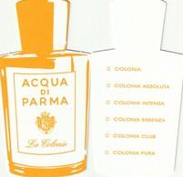 ACQUA DI PARMA  *Le Colonie*  ( Réplique )  R/V - Cartes Parfumées