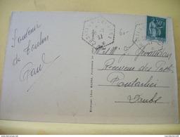 "Cachet Hexagonal ""Croiseur Colbert 1937"" Paix Cp Toulon - Posta Marittima"