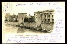 SAUMUR - 20 : Bateaux Sur La Loire - (Très Beau Plan Animé) - CP Précurseur (1901) - Saumur