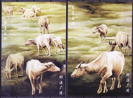 I2d- Indonesia 2009 Post Cards, Year Of Ox, Cattle, Bullock, Domestic Animals - Briefmarken