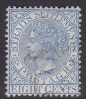Malaysia-Straits Settlements SG 101 1894 Queen Victoria 8c Ultramarine, Used - Straits Settlements