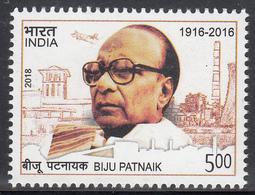 INDIA 2018 BIJU PATNAIK, Politician, Chief Minister,iv Complete, MNH(**) - India