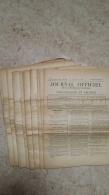 LOT DE 12 EXEMPLAIRES DIFFERENTS DU JOURNAL OFFICIEL 1944 N° 116 Au 128 - Décrets & Lois