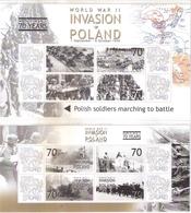 2 Superbes Blocs -L'Invasion De La Pologne - XX/MNH - Guerre Mondiale (Seconde)