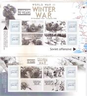 2 Superbes Blocs -La Guerre D'Hiver - Les Concessions Finlandaises - XX/MNH - WO2