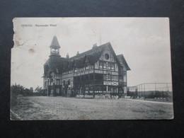 CP BELGIQUE (V1815) GENVAL (1 Vue) NORMANDIE HOTEL Phototypie Collin Alost - La Hulpe